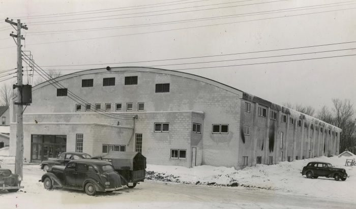 Bracebridge Memorial Arena, 1949. Photo: Toronto Star